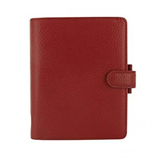 Filofax Finsbury Mini Leather red